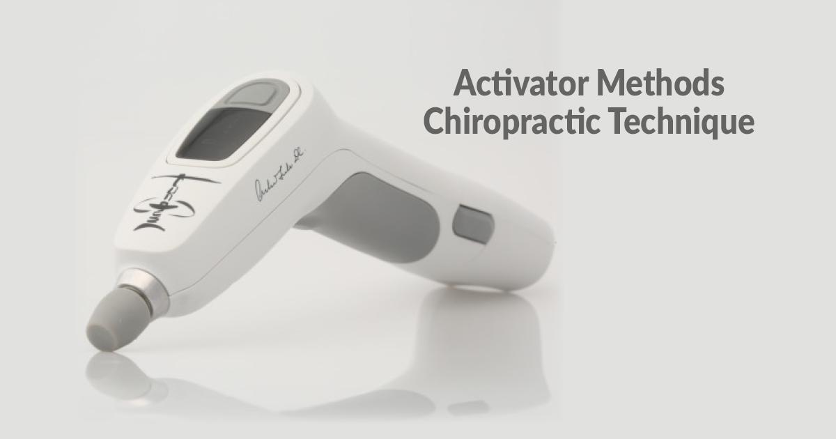 Activator Methods Chiropractic Technique