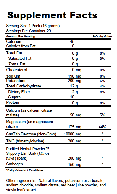 Hydrate Nutrition Facts