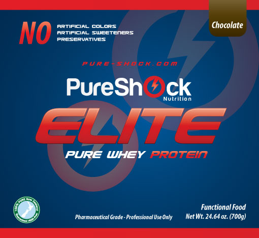 Elite - Pure Whey Protein Label